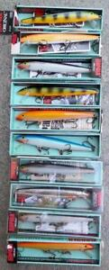 10 Rapala Floating 11 Lures New in Boxes In Various Colors GFR P S B SH
