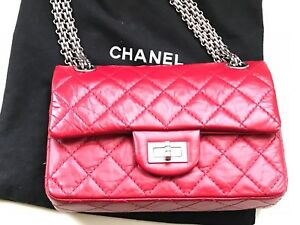 Chanel 224 Mini Reissue *DYED* red with Ruthenium Hardware