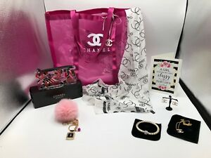CHANEL VIP PINK SUMMER MESH TOTE AND SCARF + FASHION JEWELRY