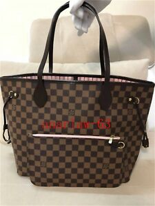 Authentic Louis Vuitton Damier Neverfull MM  Tote Bag With Pouch