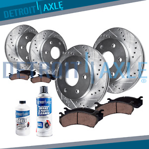 Front Rear Rotors Ceramic Brake Pads Chevy Trailblazer V8 Envoy Brakes Kit $168.49