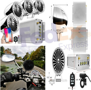1000W Bluetooth Motorcycle Stereo 4 Speaker Amplifer FM Radio for AUX Audio MP3