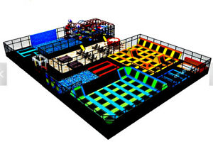 25000 sqft Commercial Trampoline Park Dodgeball Soft Play Turnkey We Finance