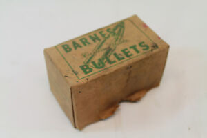 Antique Vtg Barnes Bullets Custom made Ammo Bullet Box Top  EMPTY