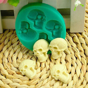 Skull Head Silicone Fondant Cake Mould Chocolate Mold Halloween Party Softness