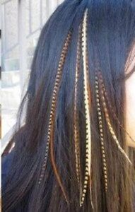 4 7 inch Natural Dark Browns Beige Mix 100% Real Hair 5Feather Extensions bond $11.99
