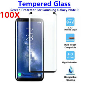 100 PCS Case Friendly Tempered Glass Screen Protector For Samsung Galaxy Note 9