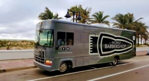 Mobile Barbershop offering quality finishes and efficient  design.