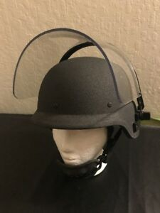 Aetco Inc. Police Tactical Protective Armored Riot Helmet ~ MEDIUM ~ Kevlar USA