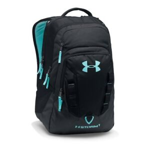 Under Armour Storm Recruit BackpackBlackBlue Infinity One Size