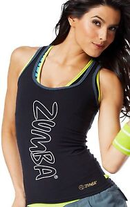 ZUMBA FITNESS DANCE Rock With Me RACERBACK TOP Tank SHIRT RARE Convention S M
