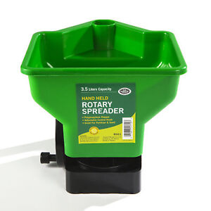 HBC Rotary Hand Spreader for Lawn and Garden