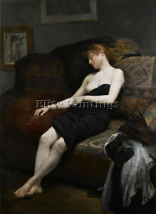 ROUSSIN GEORGES ASLEEP IN THE STUDIO ARTIST PAINTING REPRODUCTION HANDMADE OIL