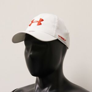 Under Armour Golf Hat Women's Adjustable Free Fit Heat Gear Cap (WhiteGrayRed)