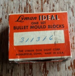 Lyman Bullet Mould Blocks in Original Box Ideal 311316 Original