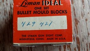 Lyman Bullet Mould Blocks in Original Box Ideal 429421
