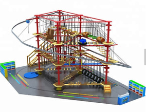12000 sqft Commercial Roller Coaster Zip Line Rope Soft Playground We Finance