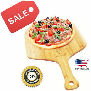 Pizza Peel Paddle Shovel. Bamboo Wood. Slide pizza bread into oven. USA Seller