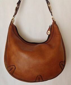 RARE Vintage GOLD PHEIL Leather Hobo Handbag Made In Germany MUST SEE REDUCED