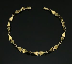 Very Rare 18K Gold Necklace by Georg Jensen Denmark - Design Nr # 1104A - A589