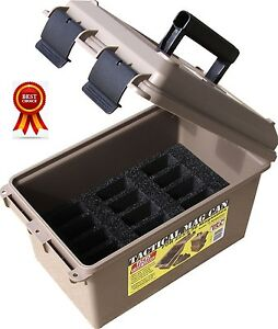 Tactical Mag Can Ammunition Storage Utility Box Ammo Crate Container 223  5.56
