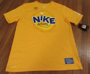 Nike Kyrie Irving Kix Dri-Fit T-Shirt Tee Size Large Yellow Cereal Pack New NWT