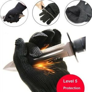 Cut Resistant Made with Kevlar Gloves Working Protective Safety Steel Army-Grade