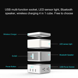 4in1 Smart Home Modular Kit Sensor Light Module Bluetooth Speaker Socket Base BT