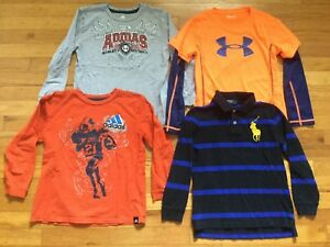 Under Armour Adidas Polo Ralph Lauren Shirts Youth Boys Size 7 Lot T Shirt Polo