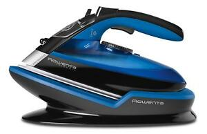 Rowenta Freemove Cordless Steam Iron w 400 Holes Stainless Steel Soleplate