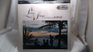 LIVING STRINGS PLAY MUSIC OF HAWAII RCA CAMDEN VINYL LP MADE IN U.S.A