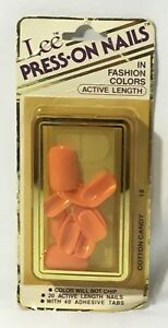 Vintage Lee Press On Nails In Cotton Candy Pink Active Length New 1980's