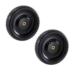 Wheel Tires Cart 13 In Rubber Sealed No Flat Utility Solid Polyurethane 2 Packs