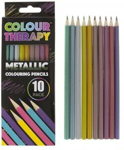 PMS - Colouring Pencils Professional Quality Metallic Colour Therapy 10pk