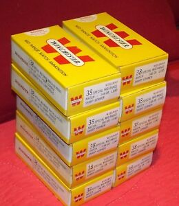 Vintage Winchester Center Fire 38 Special Cartridges Boxes (10)
