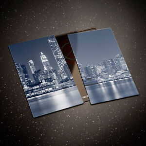 Tempered Glass Chopping Board Cooker Hob Cover Protector New York Bridge 0314 GBP 39.00