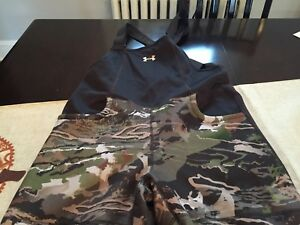 WOMENS Under Armour STORM FOREST CAMO HUNT Hunting BIB OVERALLS SIZE L NWT $170