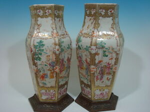 Antique Chinese large Famille Rose Vases Qianlong period 18th Century