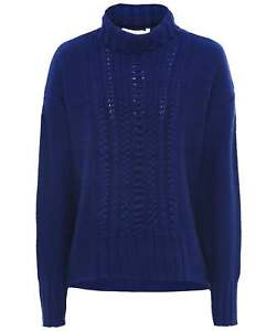 Duffy Women's Cable Knit Funnel Neck Jumper
