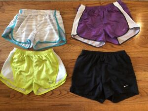Lot of 4 Womens Exercise Running SHORTS Sz Small NIKE~champion~colosseum