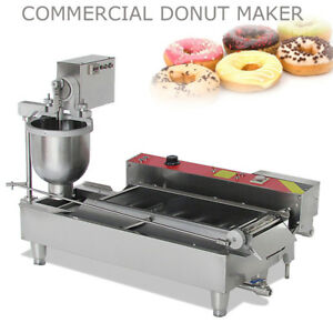 Commercial Electric Automatic Doughnut Donut Machine Steel Donut Maker W 3 Mold