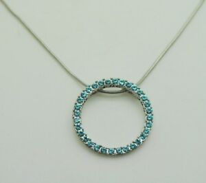simple style circle shape pendant blue color fashion jewelry chain necklace F10 $7.99