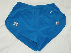 Nike elite olympic pro hi-cut running shorts women's M medium blue team racing