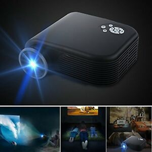 Outdoor Home Theater Projector Movie HDMI Lumens LED Portable Video Screen 2018