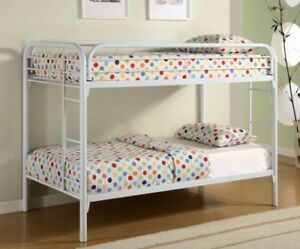 Coaster Home Furnishings Morgan Twin over Twin Bunk Bed with Built-in Ladders Wh
