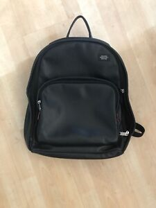 MEN'S JACK SPADE MASON LARGE BLACK LEATHER BACKPACK BOOKBAG BAG