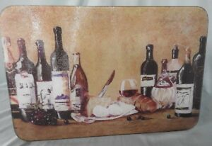 #375 / 28 WINE AND CHEESE GLASS CUTTING BOARD