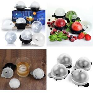 Set of 4 Sphere Ice Ball Maker Mold Perfect 2.5 INCH Round Ice Cube for Whiskey-