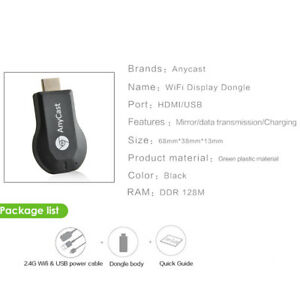 MagiDeal Wireless Display Dongle 1080P HD HDMI WiFi Adapter for Tablet Phone