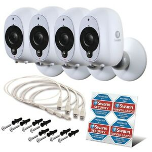 Swann Smart Security Camera 4 Pack 1080p Full HD Wireless with True Detect WIFI